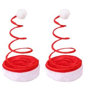 2 Pcs Funny Hat Santa Clause Hat Christmas Hat Party Hat Novelty Xmas Hat for Decor Women