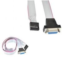 100pcs/ Game port DB 15pin female panel mount to 16Pin header PCB motherboard 16Pin panel line game machine line