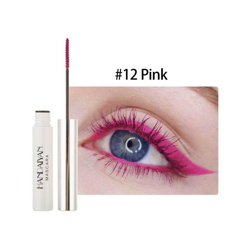 Цветная тушь водостойкие ресницы, Подкручивающая, удлиняющая, густой объем, макияж, ресницы для глаз, быстро сохнут, стойкий макияж для красоты - Цвет: 12