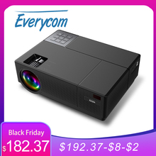 Проектор Everycom M9 CL770, 1080P Full HD, 4K AC3 a, светодиодный мультимедийный проектор, 6800 лм, HDMI * 2, автопроектор для домашнего кинотеатра