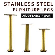 1Pcs 13CM-30CM Furniture Adjustable Cabinet Legs Stainless Steel Furniture Legs Cabinet Table Sofa Bed Feet Furniture Legs Feet