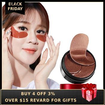 Collagen Eye Patch For Ginseng 60PCS Hydrating Hydrogel Anti Aging Care Eyes Mask Under Korea Gel Patches Remove Dark Circles Q