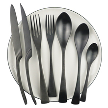 Flatware-Set Spoon Stainless-Steel Black High-Quality Knife-Fork Kitchen Matte Restaurant
