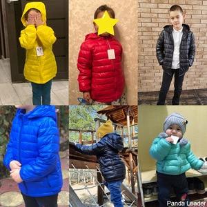 Image 4 - Baby Girls Boys Parka Light Kids Jacket Hood 90% Duck Down Coat Winter Children Jacket Spring Fall Toddler Outerwear 1 12 Year