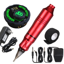 Complete Rotary Tattoo Machine Pen Set Tattoo Kit LCD Power Pedal Permanent Makeup Machine Assortment