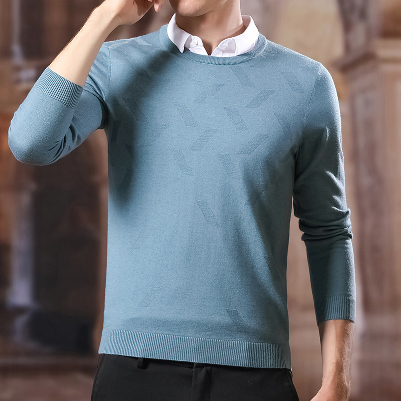Fashion Sweater For Mens Pullovers Fake Two Pieces Slim Fit Jumpers Knitred Shirt Collar Winter Korean Style Casual Mens Clothes