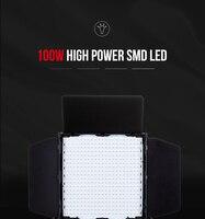 Tolifo GK J 100WAB LED Studio Light Panel Rechargeable Super Bright with Barndoors and U mount CRI 95+ 400 Pcs LED lamp