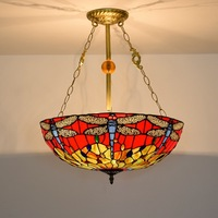 50 cm and red bottom dragonfly means European tiffany stained glass pendent lamp sitting room dining room the bedroom