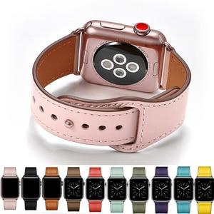 Image 1 - Echt Lederen Horloge Band Strap Voor Apple Horloge Serie 4 3 2 1 42Mm 44Mm, viotoo Vrouwen Luxe Lederen Horloge Band Voor Iwatch