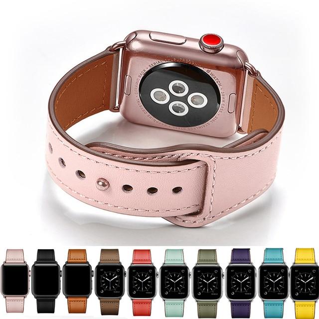 Vioto bracelet en cuir véritable pour Apple Watch, pour Apple Watch série 4 3 2 1 de 42mm 44mm, bracelet de luxe pour femmes, iwatch