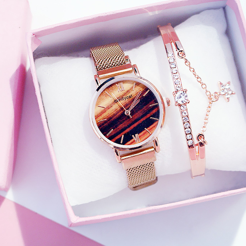 Women's Watches Ladies Wristwatch Bracelet Alloy Stainless Steel Casual Sucker Quartz Girls Ladies Wrist Watch Clock