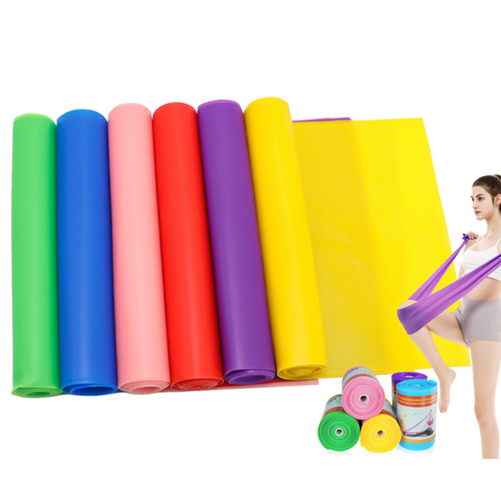 Yoga Indoor Tension Band Fitness Exercise Pilates Stretching Ribbon Belt Pull Elastic Strap Supplies