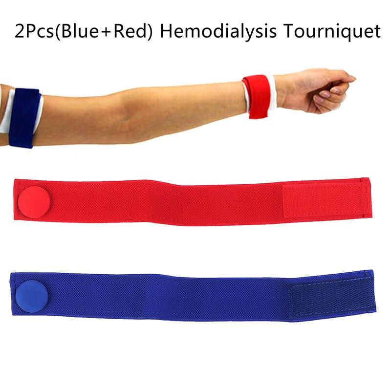 2Pcs Medical Hemodialysis Tourniquet Nursing-specific Dialysis Plus Flexible Venous Hemostatic Buckle Strap