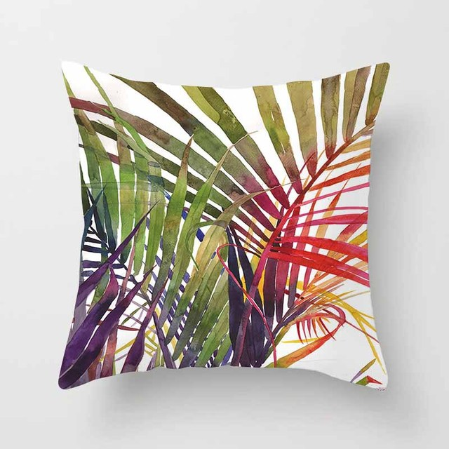 Tropical Leaves Cushion Covers