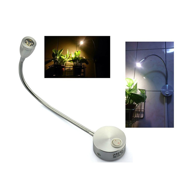 360 Degree Flexible Arm LED Wall Light LED Reading Light Bedside Lamp With Switch Home Decor AC 85 265V 3W Warm White in Party DIY Decorations from Home Garden