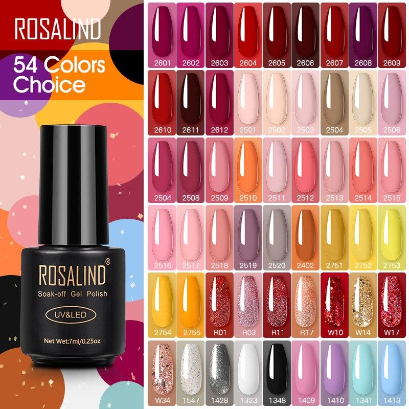 ROSALIND Nagellack Rot Nackt Serie Polieren Alle Für Maniküre Nägel Kunst Semi Permanent Gel UV LED Soff Off Hybrid lacke