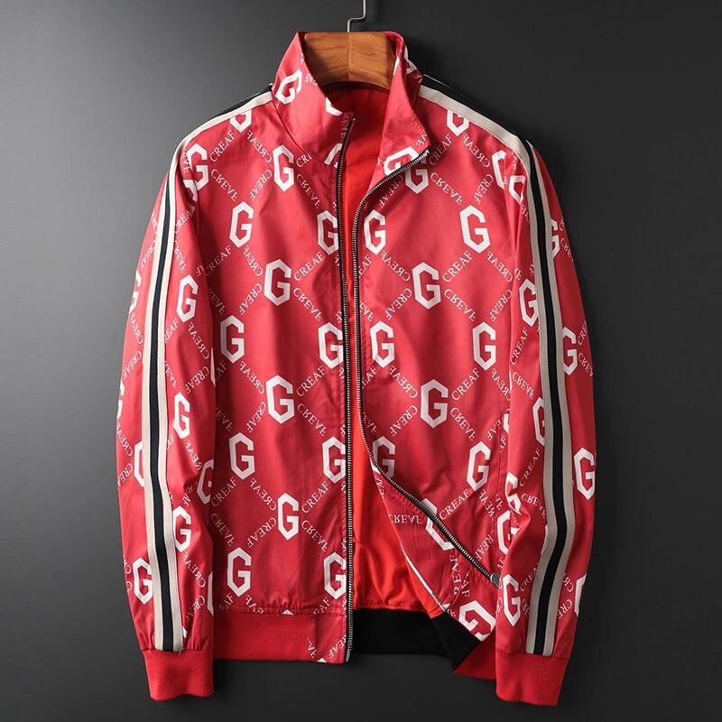 2021 Fashion G Letter Brand Windbreaker Spring Zipper Men's Jacket Autumn Trend Handsome Loose Casual Jacket Men Clothing