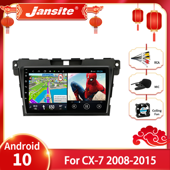 Jansite Android 10 Car Radio Multimedia Video Player For MAZDA CX-7 cx7 cx 7 2008-2015 2 din Floating window Split Screen Player image