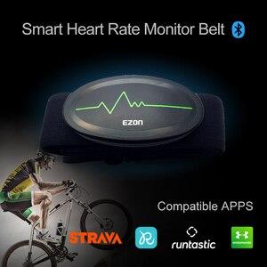 Image 1 - Cinturón de pecho con control del ritmo cardíaco, Bluetooth 4,0, rastreador de ejercicios para deportes al aire libre y musculación EZON C009