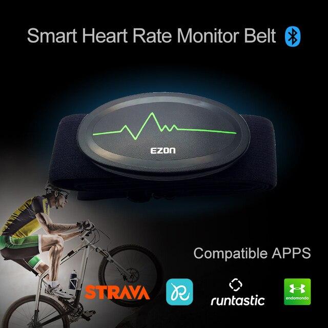 Cinturón de pecho con control del ritmo cardíaco, Bluetooth 4,0, rastreador de ejercicios para deportes al aire libre y musculación EZON C009