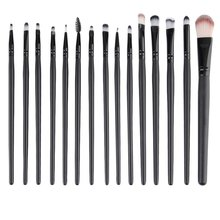 15 pcs / set Professional Beauty Cosmetic Makeup Kit Eyeshadow Foundation Del Eyebrow Lip Make-up Brushes Brush Set Tools все цены