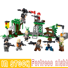 Fortress Night Model Building Blocks bricks Educational Compatible Legoinglys Technic Children Kids Toys Dolls Gifts Fortnited lepin 20001 technic series 911 model building kits blocks bricks boy toys funny educational children gifts compatible with 42056