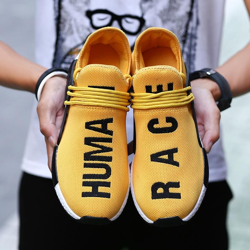 Ultralight Men Designer Sneakers Human Race Breathable Sports Casual Shoes Jogging Women Shoes Tenis Feminino Zapatos De Hombre