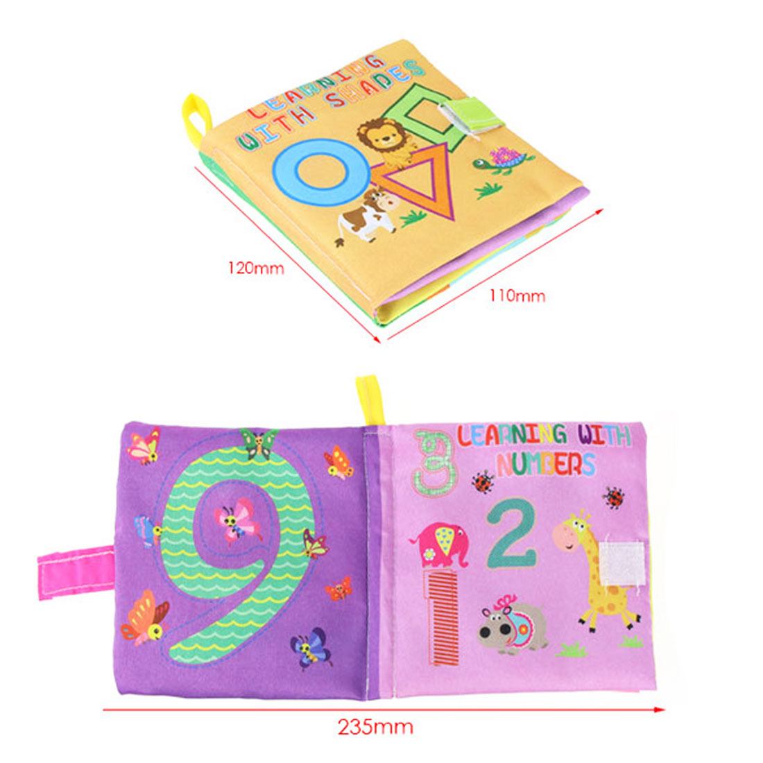 0 36 Months Baby Toys Soft Cloth Books Infant Educational Stroller Rattle Toy Newborn Crib Bed Baby Toys