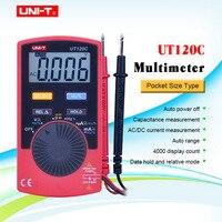 UNI T UT120C Ultra protable Auto Ranging Auto off Digital Multimeter Capacitance Resistance AC/DC Current Voltage Meter Tester|Multimeters|Tools -