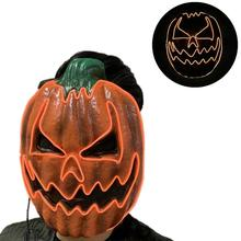 Halloween Mask Luminous Pumpkin Face LED Horror Costumes Makeup Scary Party Cosplay mascaras Prop