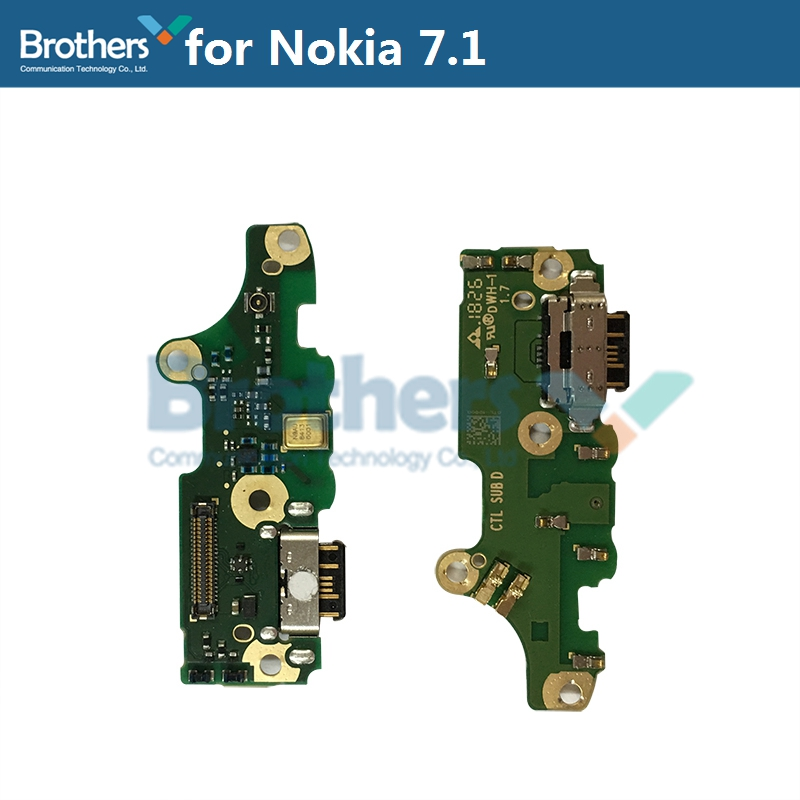 Type-C Charge For Nokia 7.1 USB Charging Dock Flex Cable For TA-1100 TA-1097 TA-1085 TA-1095 TA-1096 Charger Port Phone Parts