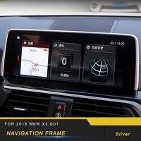 Navegação do carro da Tela Do Monitor Quadro Capa Guarnição Automotive Interior Acessórios Etiqueta para 2018 2019 BMW X3 G01 X4 G02 adesivos automotivos internos     -