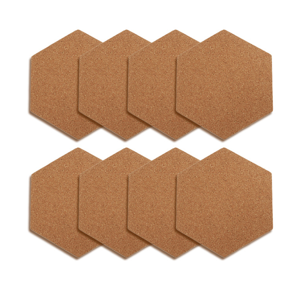 1Pc Cork Hexagon Board Decorative Strong Self-Adhesive Bulletin Board For Wall Home Office Decor School Supplies Wall decoration