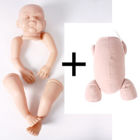 new DK 50 22inch Lifelike Reborn Baby DIY Model Kit with body Unfinished Blank Unpaint Doll Kits Soft Silicone Reborn Doll Kit