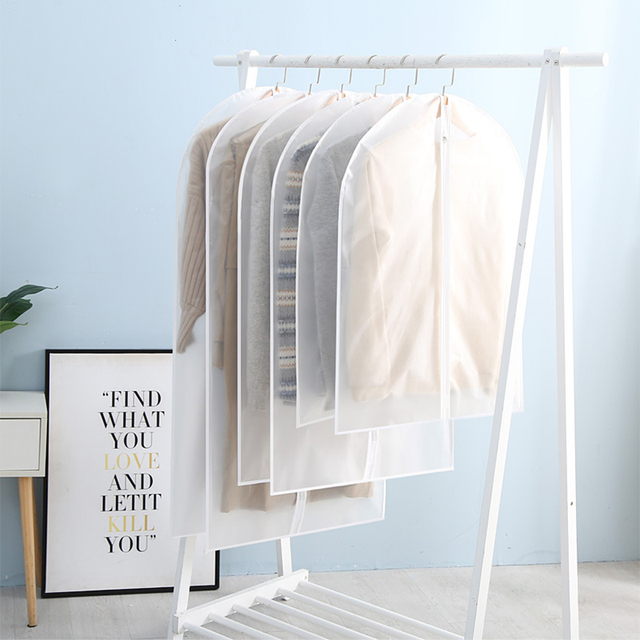 Hot Clothes Hanging Garment Dress Clothes Suit Coat Dust Cover Home Storage Bag Pouch Case Organizer Wardrobe Hanging Clothing 2
