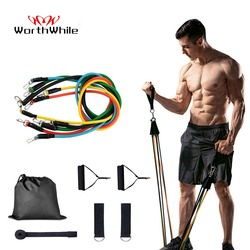 WorthWhile Gym Fitness Resistance Bands Set Belt Yoga Stretch Pull Up Assist Rope Straps Crossfit Training Workout Equipment