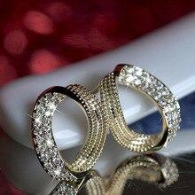 ZHOUYANG Stud Earrings For Women Specail Style Irregular Geometry Micro Inlay Zircon 3 Color Party Gift Fashion Jewelry KBE265