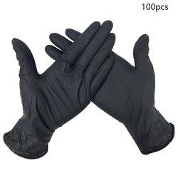 100 sztuk odporność na zużycie nitrylowe jednorazowe rękawice testowanie żywności rękawice do mycia gospodarstwa domowego rękawice antystatyczne