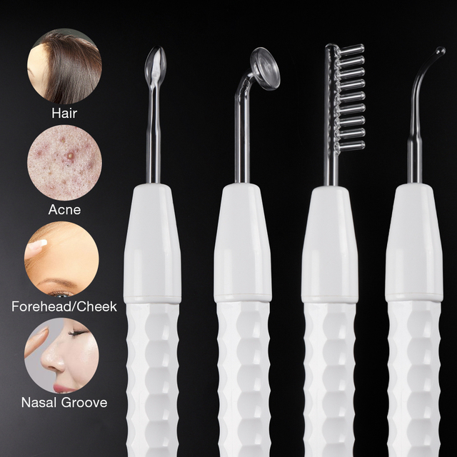 High Frequency Electrode Glass Tube Electrotherapy Beauty Device Skin Care Facial Acne Spot Wrinkles Remover Spa Salon Home 2