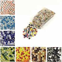 200g criativo quadrado mosaico de cerâmica telhas diy hobbies artesanato parede decorativa em forma de coração brincos jóias que fazem acessórios