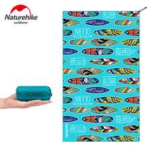 Ręcznik kąpielowy Naturehike ultralekki ręcznik podróżny szybkoschnący ręcznik plażowy ręcznik kempingowy kompaktowy ręcznik sportowy z mikrofibry tanie tanio CN (pochodzenie) Quick-Dry Printed Tkanina z mikrofibry Naturehike Swimming Towel M-50g (0 11 Lbs) L-150g (0 33 Lbs) M-40x75 cm L-128x75 cm