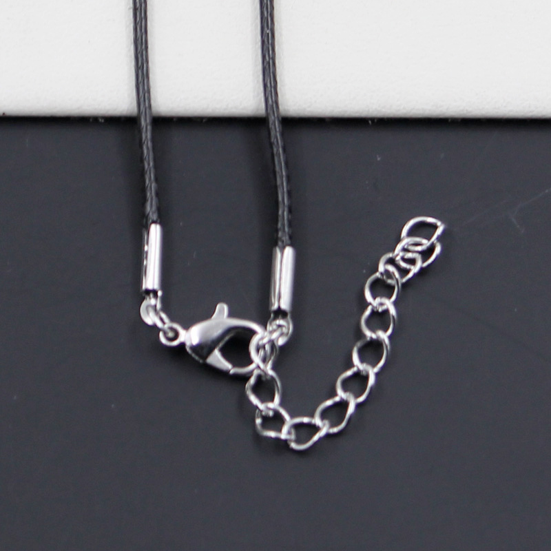 Awesome black leather choker with spider charm
