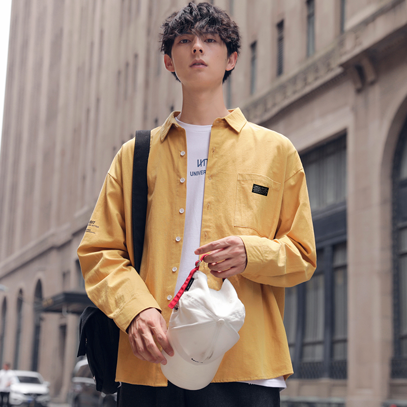 Cotton Mens Solid Shirt Long Sleeve 2020 Man Korean Fashions Shirt For Men Male Streetwear Spring Cotton Women Shirts Spring