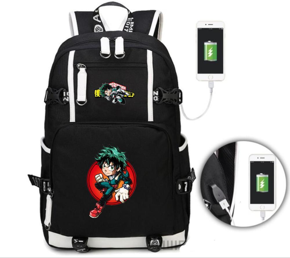Anime My Hero Academia Backpack Fashion Travel Bag Student Schoolbag Mochila
