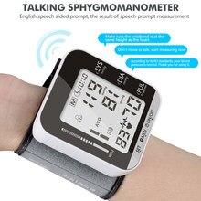 Taşınabilir tonometre bilek tipi elektronik kan basıncı monitörü tansiyon aleti kan basıncı ölçer monitör kalp hızı darbe