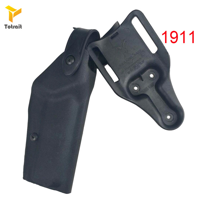 Image 3 - Totrait Military Army Tactical Safariland Holster M9 GL17 1911 USP P226 Gun Carry Case Right Hand Quick Drop Gun Belt HolsterHolsters   -