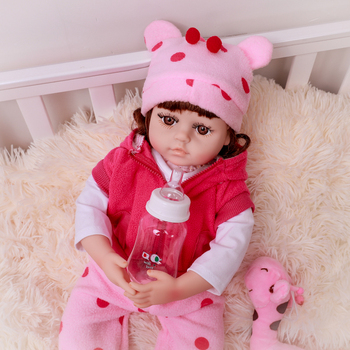 48cm Reborn Baby Doll Realistic lifelike Newborn Babies Doll With Giraffe Toy Princess Bonecas Adorable Dolls Toy For Kids 48cm reborn baby doll toddler girl pink princess soft full body silicone babies dolls lifelike realistic bonecas toys for kids
