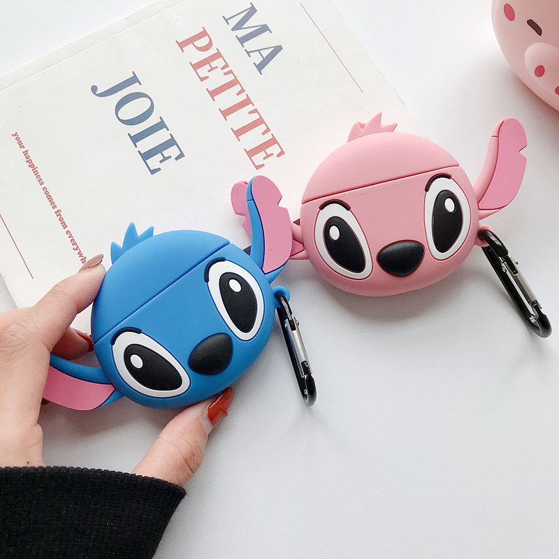 3D Cartoon Cute Stitch Silicone Earphone Case For Huawei Freebuds 3 Wireless Bluetooth Headphone Headset Cover Charging Box
