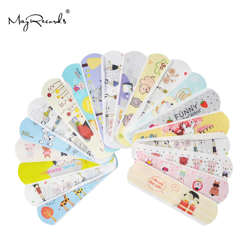 waterproof patch - 100PCs Waterproof Breathable Cute Cartoon Band Aid Hemostasis Adhesive Bandages First Aid Emergency Kit For Kids Children