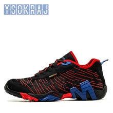 Ysokaj-zapatos Trekking al aire libre para hombre, zapatillas de escalada de montaña de talla grande, color Beige, naranja, para caza, senderismo